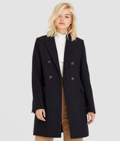Двубортное пальто свободного кроя