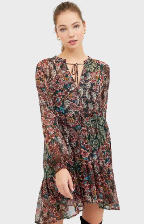 Платье-павлин Страдивариус