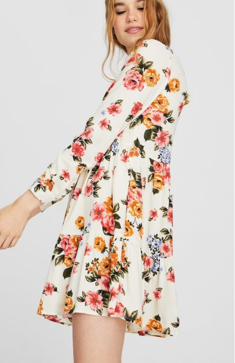 Платье-рубашка с воланом