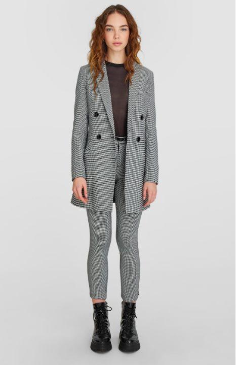 Платье-пиджак с узором «гусиная лапка»