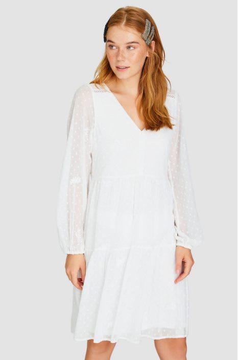 Платье миди с вышивкой
